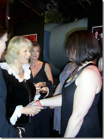 Lucy Aldridge with Camilla Parker Bowles